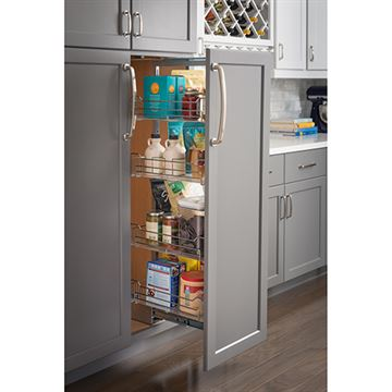 Restorers 15 Inch Wire Pantry Pullout – Heavy-Duty Soft-Close Slides