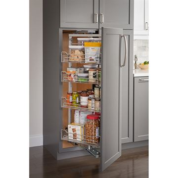 Restorers 15 Inch Wire Pantry Pullout with Swingout