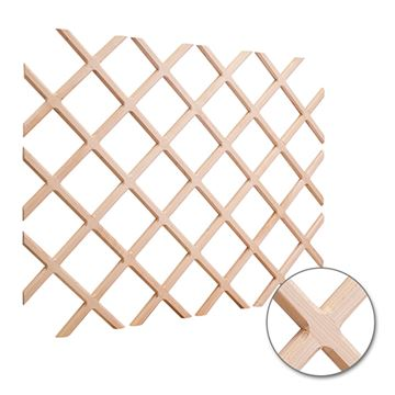 Restorers Beveled Wine Bottle Rack Lattice