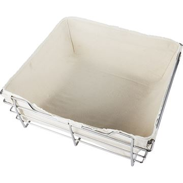 Restorers Tan Canvas Basket Liner for 30 x 16 Wire Basket