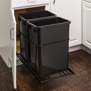 Elements 11-Minute Double Pullout 35-Quart Waste Container System