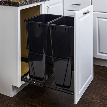 Elements 11-Minute Double Pullout 50-Quart Waste Container System