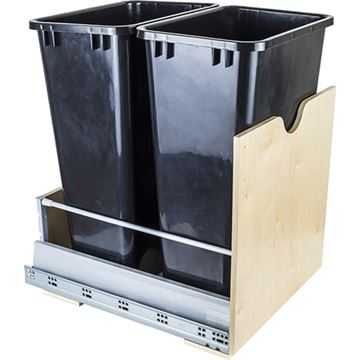Restorers Preassembled 50-Qt Double Pullout Waste Can System