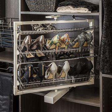 Restorers Rotating Shoe Rack - 4 Shelves
