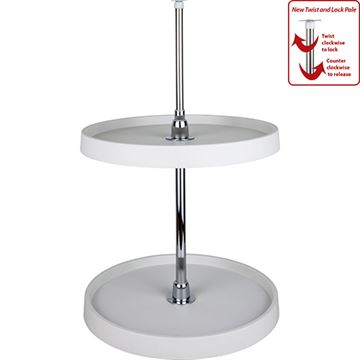 Restorers Round Plastic Lazy Susan Set With Chrome Hubs
