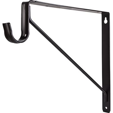 Restorers Shelf & Rod Support Bracket for Round Closet Rods