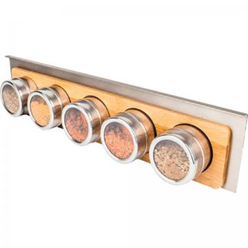 Restorers Smart Rail Hanging 5 Spice Bottle Shelf