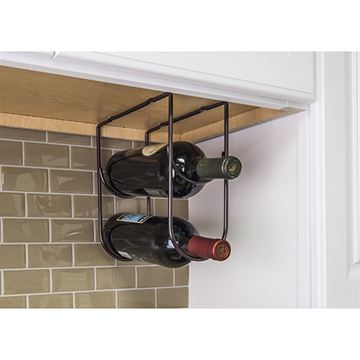 Elements 11-Minute Wire Under Cabinet Wine Bottle Rack