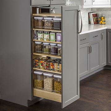 Restorers Wood Pantry Cabinet Pullout - 15 Inch Opening