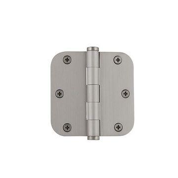 Grandeur 3 1/2 Inch Button Tip Residential Radius Corner Hinge