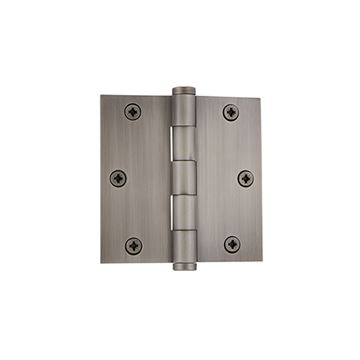 Grandeur 3 1/2 Inch Button Tip Residential Square Corner Hinge