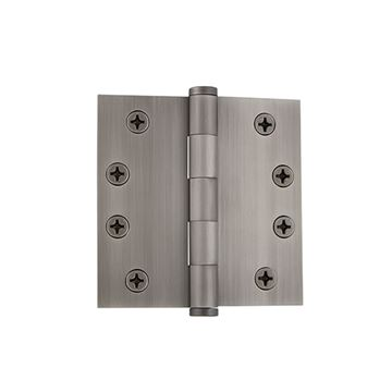 Grandeur 4 Inch Button Tip Heavy Duty Square Corner Hinge