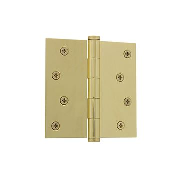 Grandeur 4 Inch Button Tip Residential Square Corner Hinge