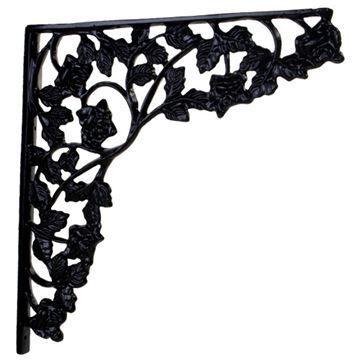 Restorers Ivy Leaf Iron Shelf Bracket
