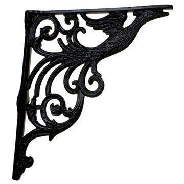 Restorers Peacock Cast Iron Shelf Bracket