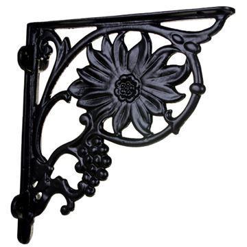 Restorers Flower & Grape Cast Iron Shelf Bracket