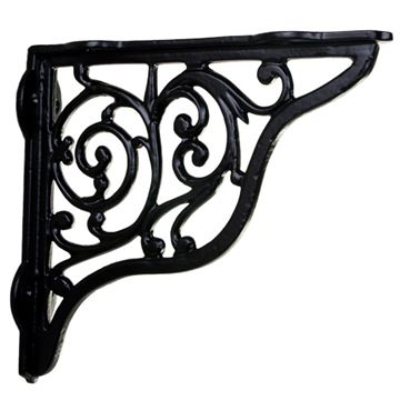 Restorers Scroll Cast Iron Shelf Bracket - 8 1/4 Inch