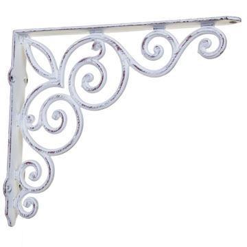 Restorers Simple Fleur Iron Shelf Bracket