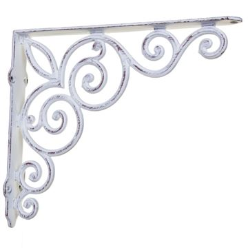 Restorers Simple Fleur Iron Shelf Bracket
