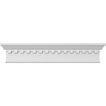 Restorers Architectural 7 1/4 Inch Traditional Crosshead - Dentil Trim