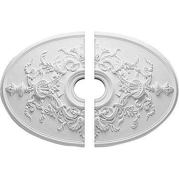 Restorers Architectural Alexa 2-Piece Oval Urethane Ceiling Medallion