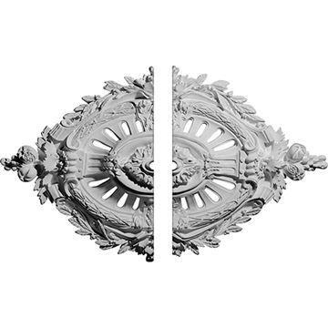 Restorers Architectural Antonio 2-Piece Urethane Ceiling Medallion