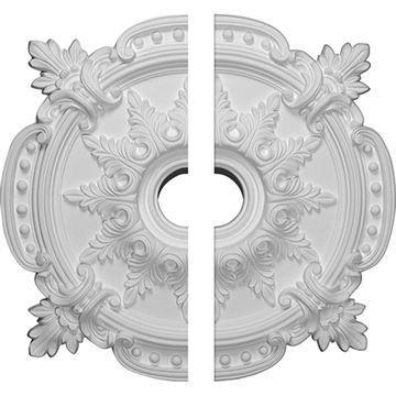 Restorers Architectural Benson Classic Urethane Ceiling Medallion - 2 Piece