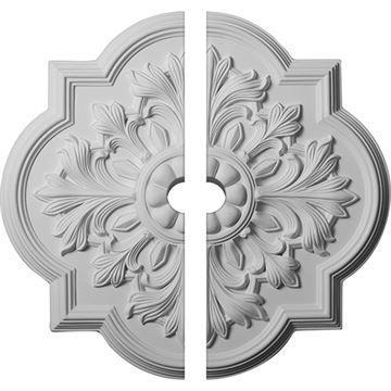Restorers Architectural Bonetti Urethane 2-Piece Ceiling Medallion