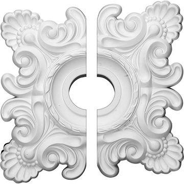 Restorers Architectural Crendon Urethane 2-Piece Square Ceiling Medallion