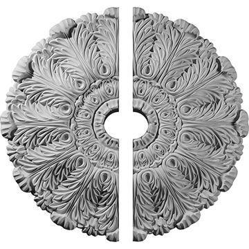 Restorers Architectural 2-Piece Durham Urethane Ceiling Medallion