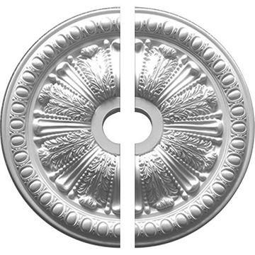 Restorers Architectural Egg and Dart Urethane Ceiling Medallion