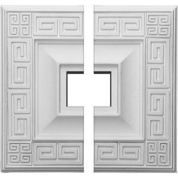 Restorers Architectural Eris Urethane Square 2-Piece Ceiling Medallion