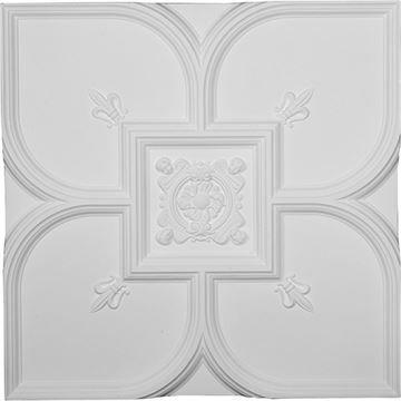 Restorers Architectural Fleur-De-Lis Urethane Ceiling Tile