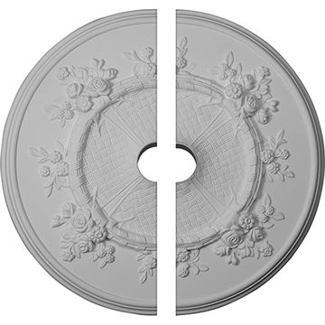 Restorers Architectural Flower Basket Urethane Ceiling Medallion