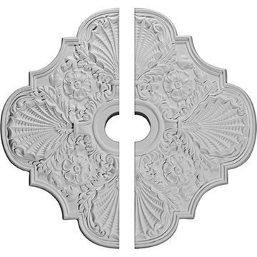 Restorers Architectural Flower Square Urethane Medallion - 2-Piece