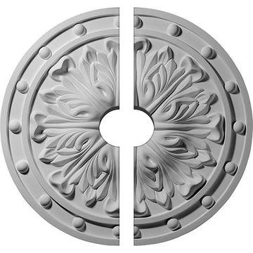 Restorers Architectural Foster Acanthus Urethane 2-Piece Medallion