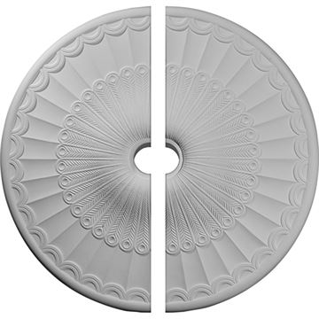 Restorers Architectural Galveston Urethane 2-Piece Medallion