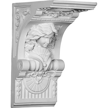 Restorers Architectural Hestia Large Urethane Corbel
