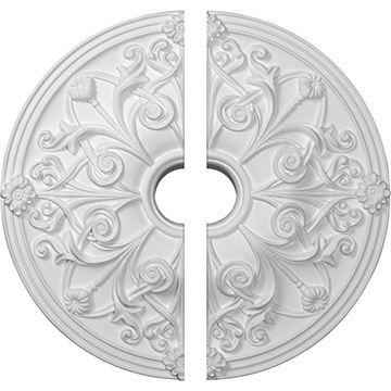 Restorers Architectural Jamie Urethane 2-Piece Medallion