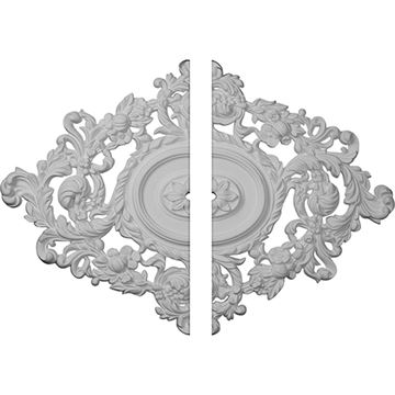 Restorers Architectural Katheryn Oval Urethane Ceiling Medallion