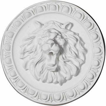 Restorers Architectural Lion Urethane Rosette Applique