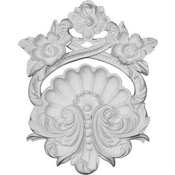 Restorers Architectural Pesaro Shell Center Urethane Onlay Applique