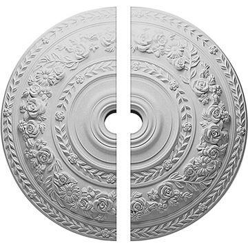 Restorers Architectural Rose Wreath Urethane Ceiling Medallion