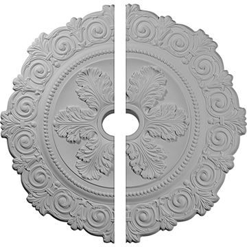 Restorers Architectural Scroll Urethane Ceiling Medallion