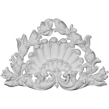 Restorers Architectural Shell & Coral Center Urethane Onlay Applique