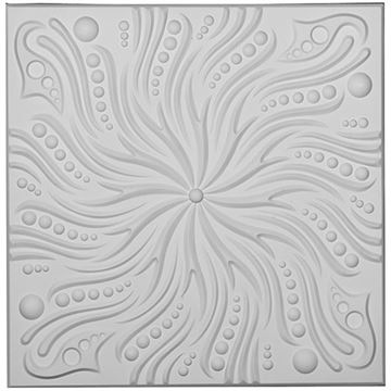 Restorers Architectural Swirl Urethane Ceiling Tile