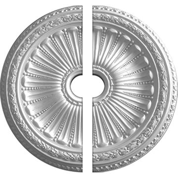 Restorers Architectural Viceroy Urethane 2-Piece Medallion