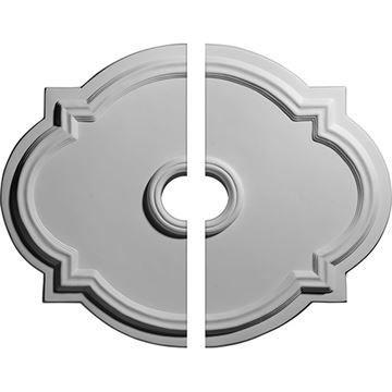 Restorers Architectural Waltz Urethane 2-Piece Medallion