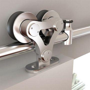 Designer Collection Dual Wheel Rolling Hardware Kit - Wood/Glass Door