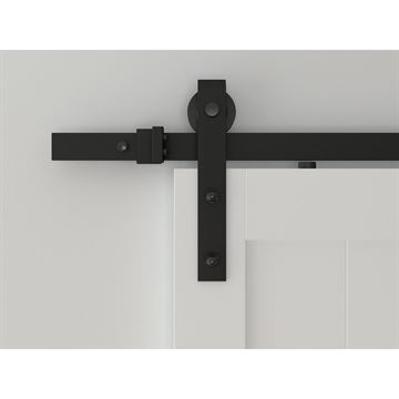 Designer Collection Hook Strap Rolling Barn Door Hardware Kit